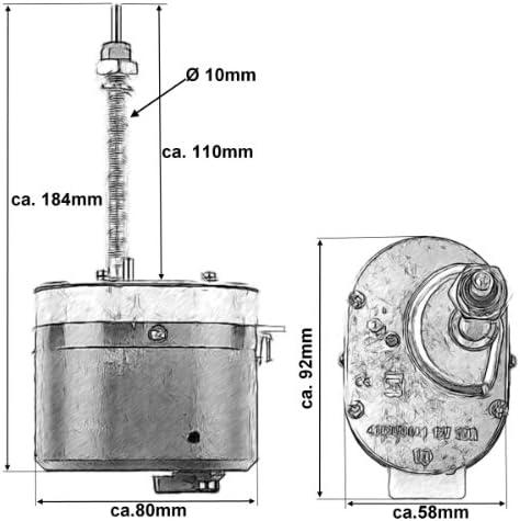 Wischermotor Scheibenwischermotor 105 Auto