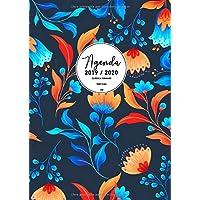 Agenda Clásica Grande 2019-2020: Agenda Semana Vista Vertical | Tamaño Extra Grande Din A4 (21 x 29,7 cm) | Diseño Floral (Spanish Edition)