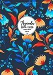 Agenda Clásica Grande 2019-2020: Agenda Semana Vista Vertical   Tamaño Extra Grande Din A4   Diseño Floral