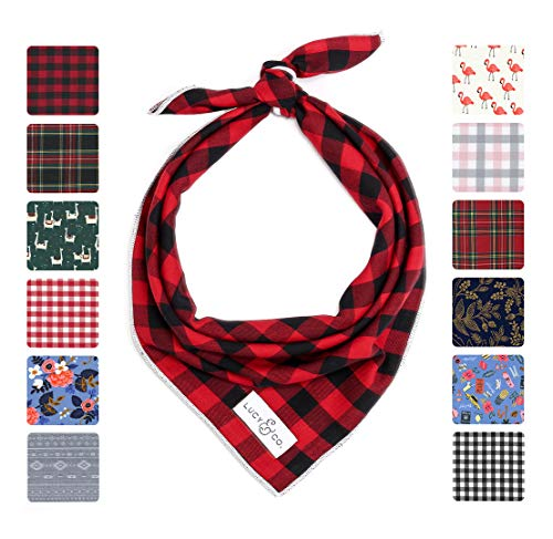 (Lucy & Co. Dog Bandana - Designer Puppy Accessory for Boy and Girl Dogs - Includes 1 Limited Edition Print Bandana)