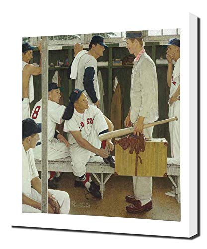 Pingoo Prints Norman Rockwell The Rookie - Canvas Art Print - Wall Art - Canvas Wrap (Canvas Rookie)