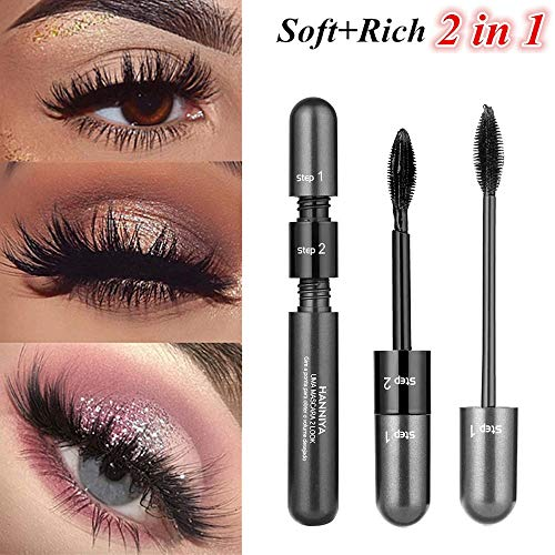Blu Lip Gloss Ray (Mascara,Longay Fiber Mascara Black Eye Curling Eyelash Double Waterproof Full Express Mascaras)