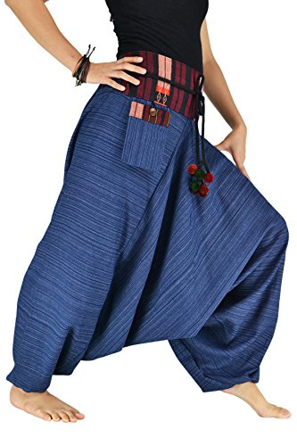 Bjelly Traditional Loose Harem Cotton Pant Unisex (Royal Blue)