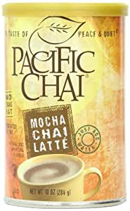 Pacific Chai Mocha Chai Latte  Mix 10-Ounce Canisters (Pack of 6)