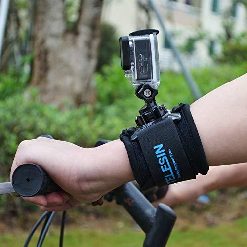 TELESIN 360 Degree Rotary Arm Hand Wrist Strap with J Hook Rotation Mount for Gopro,Osmo Action,Insta 360,Polaroid, Xiaomiyi, SJCAM
