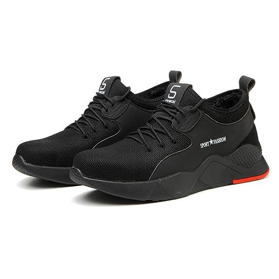 Amazon.com: XM - Zapatillas de seguridad para hombre, diseño ...