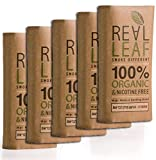 5 X Organic Herbal Natural Smoking Mixture, 100% Nicotine & Tobacco Free, Rich, Aromatic, Delicate Aroma and Smooth natural taste 3 PACKS Real Leaf Substitute, 150g Total