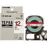 キングジム テープカートリッジ テプラPRO 12mm SS12R 白 赤文字
