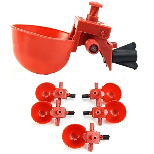 WateringAmbizu-5pcs-Bird-Coop-Water-Drinking-Cups-Feed-Automatic-Poultry-Chicken-Fowl-Drinker