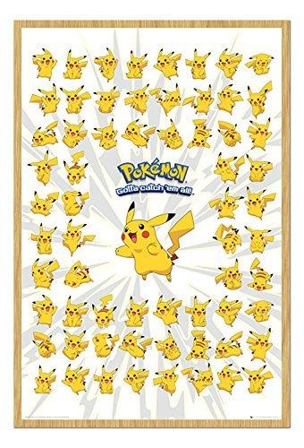 Pokemon-Pikacho-Pster-Corcho-Pin-Tablero-haya-enmarcado-965-x-66-cms-aprox-38-x-26-pulgadas