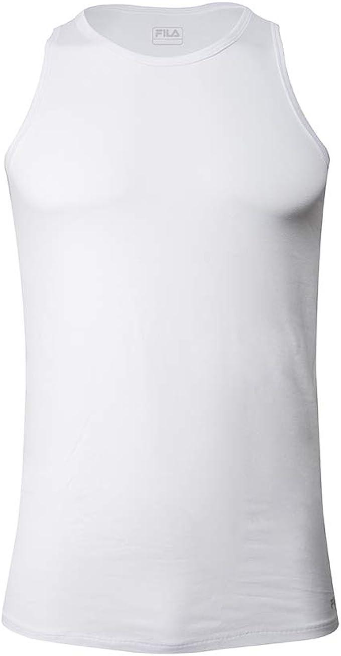 Fila FU5033 - Camiseta Interior para Hombre, algodón elástico ...