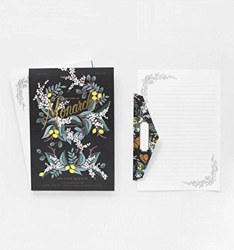 Monarch Lined Writing Pad and Matching Envelopes by Rifle Paper Co. (Monarch Card Stationery)
