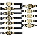 Complete Set of 12 Championship Belts for WWE Wrestling Action Figures (Series 1)