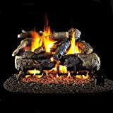 Peterson Real Fyre 24-inch Charred American Oak Gas Log Set With Vented Natural Gas G45 Burner - Manual Safety Pilot