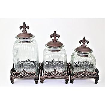 Amazon Com Gg Collection 3 Piece Ceramic Canister Set
