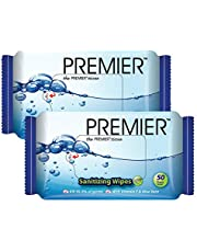 Premier Sanitizing Wipes, 50 sheets, (Pack of 2)