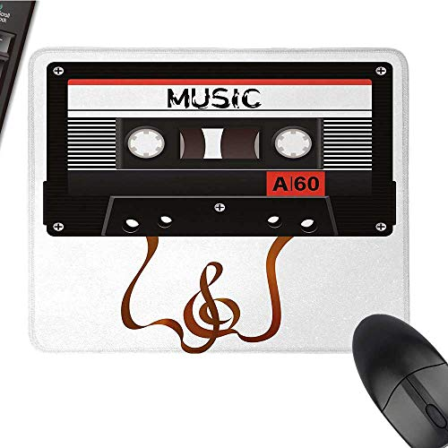 70s PartyOffice Mouse PadBroken Analogue Audio Cassette Music Playing Record Vintage TechnologyWaterproof Mice Pad 9.8
