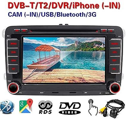 Cámara doble DIN de 7 pulgadas para coche, radio estéreo,DVD,GPS ...