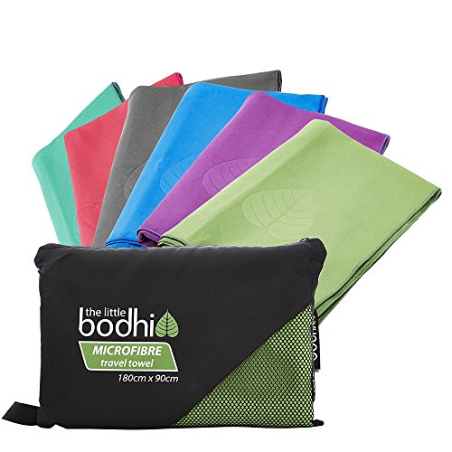 The Little Bodhi Microfiber travel towel, 180 cm x 90 cm, packtowl/camping...