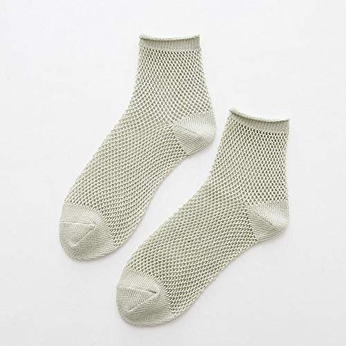 Bolayu Sexy Lady Soft Sock Multicolor Hollow Mesh Socks Breathable Short Tube Womens Socks (Green) by Bolayu (Image #1)
