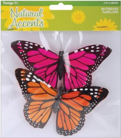 (Natural Accents Feather Monarch Butterflies 4.75 Inch (8)