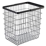 YAMAZAKI home Tower Laundry Basket - Large Storage Hamper, Black