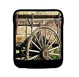Old Antique Wagon Wheel Luggage Handle Wrap Finder