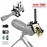 Heider TA01 Universal Metal - Telescope - Cellphone - SLR - and DSLR Camera Mount (Can be used with digital cameras and smart phones - iphone included )
