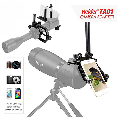 Heider TA01 Universal Metal - Telescope, Cellphone, SLR, and