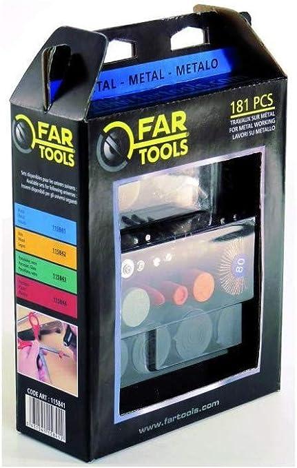 Fartools 115841 Set Accessoires Mini Meuleuse pour le M/étal
