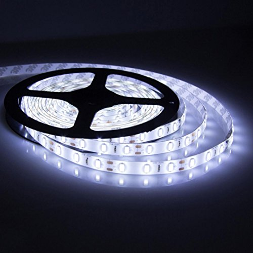 48' Round Cast (Leegor 12V 5M Ultra Bright SMD 3528 300LED Flexible Fairy Strip Light Energy efficient durable Rope Light (Cool white))