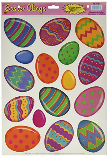 Color Bright Egg Clings Party Accessory (1 count) (16/Sh)