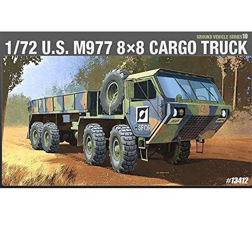 Academy 13412 U S M977 8x8 Cargo Truck 1/72 Scale Plastic Model Kit