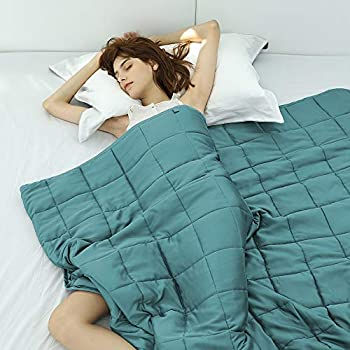 Amazon Com Cooling Weighted Blanket 100 Chilled Bamboo