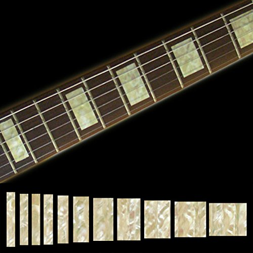 Fretboard Markers Inlay Sticker Decals for Guitar & Bass - LP SG Blocks- AWP