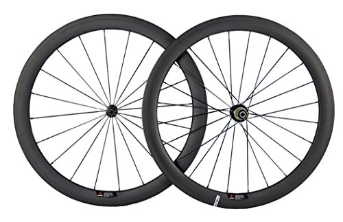 Queen Bike Carbon Fiber Road Bike Wheels 50mm Clincher Wheelset 700c Racing Bike Wheel (Campagnolo Body)