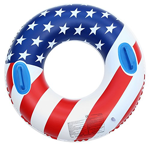 Swimming Inflatable Pool Floats,Giant Flag Swimming Ring Toys for Adults and Kids, Summer Beach Funny Water Large Float Pool (35) by HomgFor