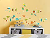 BirthdayExpress Dinosaur T Rex Room Decorations Vinyl Wall Graphic Decal