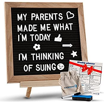 Amazon Com Changeable Black Felt Letter Board With Stand