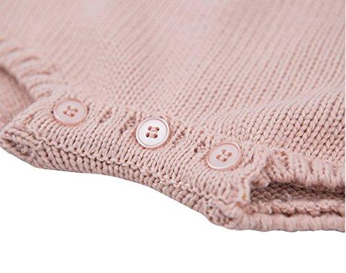 Chulianyouhuo Baby Girls Knitted Ruffle Cute Romper Cross Bandage Jumpsuit Bodysuit by Chulianyouhuo (Image #5)