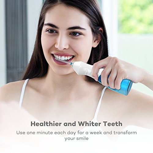 VAVA Water Dental Flosser for Whole Family, 220ML Capacity Removes 99.9% of Plaque, Debris & Tartar, Rechargable Cordless Oral Irrigator (3 Water Pressure Modes, 3 Jet Tips, FDA Approved, IPX7 Waterpr by VAVA (Image #8)