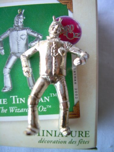 1 X The Tin Man Hallmark Miniature Ornament Wizard of Oz (Wizard Of Oz Tin Man Costume)
