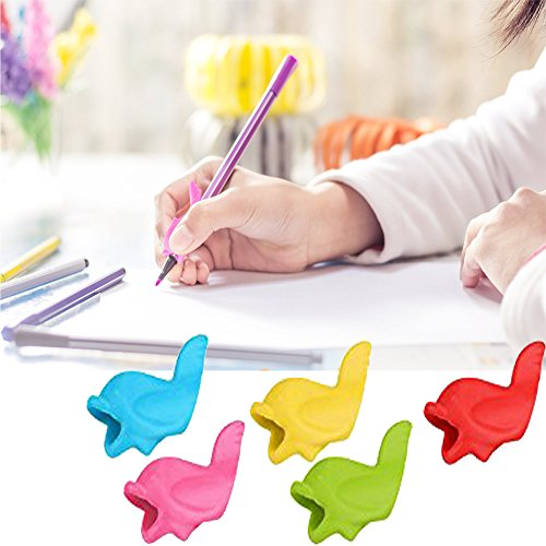 Pencil Holder Grips Pen Writing Grip Aid Tools Posture Correction Utensils for Kids Ergonomic Handwriting (20 Pack)
