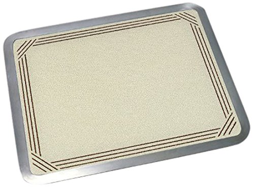 Vance 16 X 20 inch Almond Border Built-in Surface Saver Tempered Glass Cutting Board, (Laminated Cutting Board)