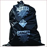 TheSafetyHouse 33 x 50 x 6 Mil Printed Black Asbestos Bags 50/roll