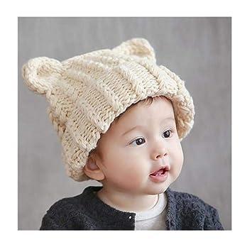 597cdf6b39e Bonnet pour enfant bébé Bonnet Chapeau double boule en tricot Chapeau pour  enfant rabats Cute enfants