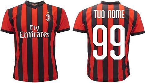 Maglia Milan Ufficiale Personalizzata 2019 2020 AC Milan Adulto Bambino Nome e Numero a Scelta Personalizzabile