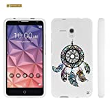 Spots8® for Alcatel OneTouch Fierce XL cellphones, Slim-Fit Case [Multi-Colored Dreamcatcher]
