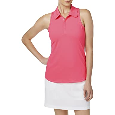f3639d7952c342 Amazon.com  Ideology Womens Sleeveless Golf Polo Pink M  Clothing