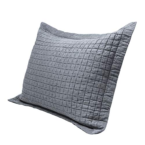 Elegant Life Super Soft 100% Cotton All-season Square Rice Stitching King Pillow Sham, 20